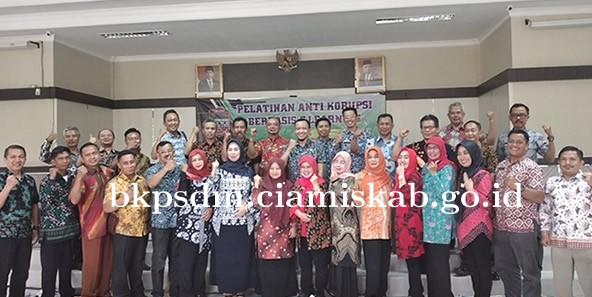 BKPSDM Ciamis Menggelar Pelatihan Anti Korupsi Berbasis E-Learning