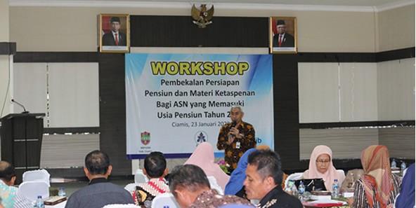 Workshop Pembekalan Persiapan Pensiun dan Materi Ketaspenan Bagi ASN yang Memasuki Usia Pensiun